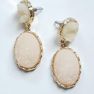 Gorgeous Druzy Quartz Earrings